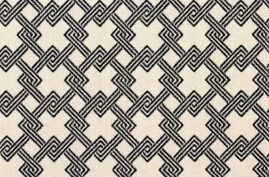 Image of Chain #2323 Carpet in black on white
