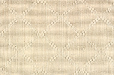 Image of Stria Diamond #21605 Carpet in Beige and White