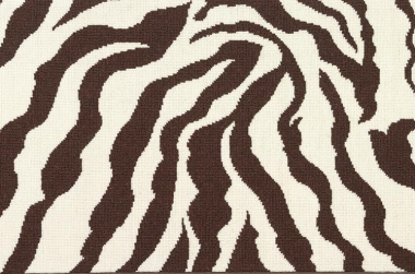 Image of the Zebra Loop #21786 Carpet line in brown and white