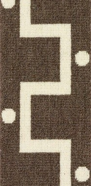 Image of the Tatina #2238 border carpet in Brown and White