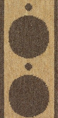 Image of Samantha #2485 carpet border in Brown and Natural