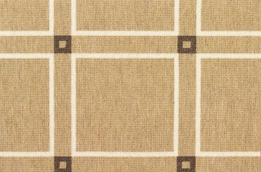 Image of Basil Squares #31480 carpet in Brown/White/Natural Ground