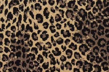Image of Leopard #3261 Carpet in Brown, Natural on Black