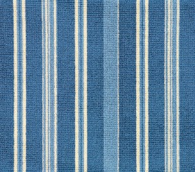 Image of Boulevard #31467 Carpet in Blue, Light Blue and White