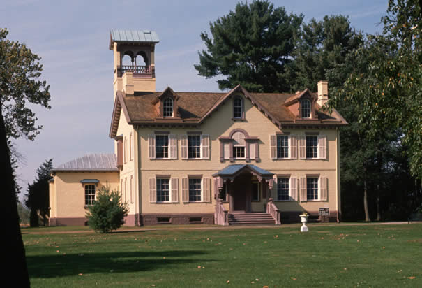Image of the Martin Van Buren House in Kinderhook, NY
